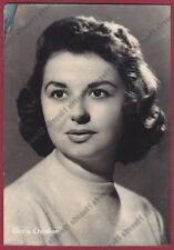 GLORIA CHRISTIAN 02 BOLOGNA - CANTANTE SINGER MUSICA Cartolina 1958 - DIFETTO !!