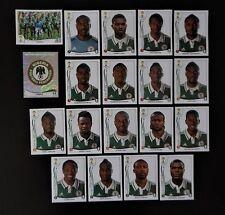 Panini FIFA World Cup Brazil 2014 Complete Team Nigeria + Foil Badge