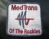 MEDICAL TRANSPORTATION EMBROIDERED SEW ON ONLY PATCH MED TRANS OF THE ROCKIES