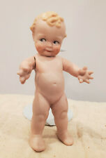Antique Reproduction All Bisque Skootles Doll w/ Jointed Arms