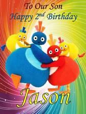 Personalised Twirlywoos Birthday Greeting Card with Envelope 312