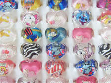 Wholesale mix Lots 100pcs Resin/Lucite Heart Pretty Kid's/child Rings