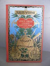 Jules Verne Vingt Mille lieues mers Repro Hetzel enfant initiation bibliophilie