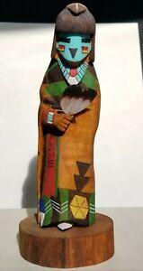 "Blue Corn Maiden Katsina 8.75"" Tall - Hopi Kachina Artist R. Poleahla Sr."