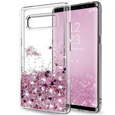 For Samsung Galaxy S8 S7 J7 J5 S9 Case Glitter Liquid Quicksand Clear Soft Cover