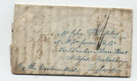 1843 Harnden express transatlantic stampless Taunton MA  to England [H.490]