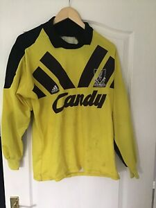 Liverpool FC Candy Original Yellow 91/92 Goalkeeper Shirt Size 38/40 Stained