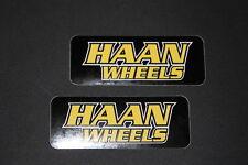 #89 Haan Wheels Räder Moto Motorrad Aufkleber Sticker Decal Bapperl Kleber Race