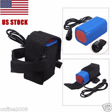 8.4V 6400mAh Rechargeable 4x 18650 Battery Pack For Head lamp Bike Bicycle Light