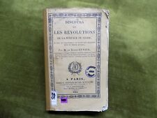 DISCOURS SUR LES REVOLUTIONS DE La SURFACE DU GLOBE Cuvier 1825 3e éd.