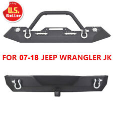 07-18 Jeep Wrangler JK& Unlimited Front and Rear Bumper w/D-Rings & LED Light CV