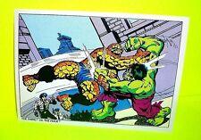 MARVEL COMIC BOOKS 1978 Vtg POSTCARD w THE THING (Fantastic Four) VS THE HULK!