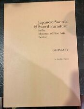 Japanese Swords & Sword Furniture glossary, 1987