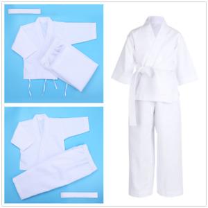 Kids Boy Girl Taekwondo Set Sportswear Karate Uniform+White Belt Training Outfit