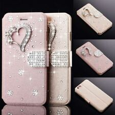 Bling Diamond Wallet Magnetic Flip Leather Case Cover For iPhone Samsung S9 Plus