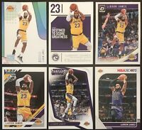 LEBRON JAMES 6x LOT: Threads, Hoops & Donruss Optic - All 6 in LA Lakers Jersey!