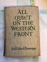 ALL QUIET ON THE WESTERN FRONT BY ERICH MARIA REMARQUE 1929 RARE