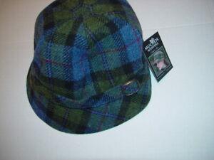 Mucros Weavers Flapper Hat 100% Wool Tweed Ireland Women's Adjustable One size