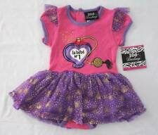 NEW Baby Girls Bodysuit 0 - 3 Mo Skirted Tutu Pink Purple la bebe Creeper Outfit