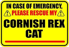 In Case Of Emergency Please Rescue My Cornish Rex Cat Sticker