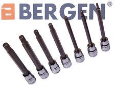 """BERGEN SPLINE Socket Bit Tool Set 4mm to 10mm - 110mm Long 3/8"""" Drive  A1149"""