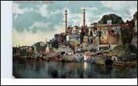 Varanasi BENARES Indien India Vintage Postcard ~1920 Aurungzebes Mosque Moschee