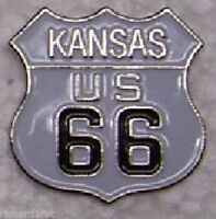 Hat Lapel Pin Push Tie Tac Route 66 - Kansas - The Mother Road NEW shield