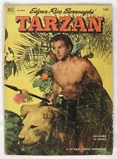 1952 Tarzan #36 Comic Book GOLDEN AGE Lex Barker Photo Cover Wheaties ERB Dell