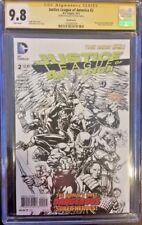 DC Comics JUSTICE LEAGUE #2 CGC SS 9.8 Finch 1:100 B&W LANTERN CATWOMAN HAWKMAN