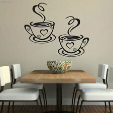 3BE8 8E19 Coffee Cups Tea Wall Stickers Mural Decal Art Cafe Bar Home Room Decor