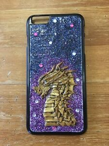 Glitter Dragon Snap On Hard Case For iPhone 6 Plus/ 6S Plus Unique Handmade