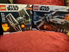 Lego Star Wars Tie Fighter 75300 (432 Pieces) & X-Wing 75301 (474 Pieces) New!