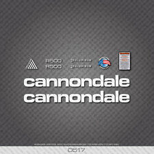 0517 White Cannondale R500 Bicycle Stickers - Decals - Transfers