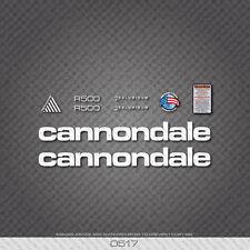 0517 BIANCO CANNONDALE R500 Bicicletta Adesivi-Decalcomanie-trasferimenti