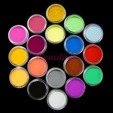 18 Crystals Liquid Carving Powder Dust Acrylic UV Tips 3D Decoration Set