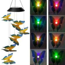 Garden Solar Powered LED Light Butterfly Wind Chime Lamp Decorate hotsale