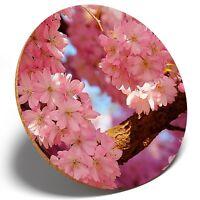 1 x Japan Pink Cherry Blossom - Round Coaster Kitchen Student Kids Gift #8995