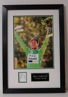 Mark Cavendish Signed & Framed Mounted Photo Display AFTAL COA (B)