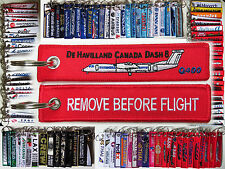 Keyring De Havilland Canada Dash 8 Q400 Remove Before Flight baggage keychain
