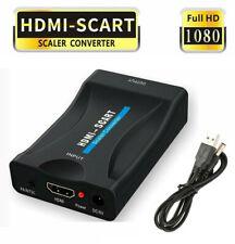 HDMI zu Scart Konverter 1080P HDMI to Scart Adapter für Sky Box +USB Kable DC 5V