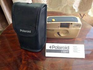 Polaroid 230 FF 35mm 28mm 1:5.6 Point & Shoot Film Camera + case & manual guide
