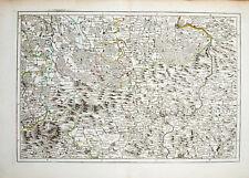 1758 Sachsen Böhmen Erzgebirge Grenzkolorierte Kupferstich-Landkarte