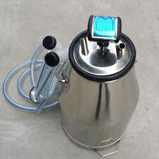 HIGA Portable 304 Stainless Steel Goat Milker Milking Machine Bucket Tank Barrel