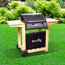 BillyOh Imperial Hooded Gas BBQ - 2 Burner Cast Iron Grill With Hose & Regulator