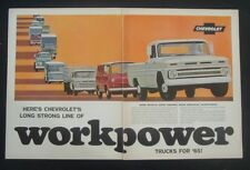 1965 Chevrolet  Pick Up Truck Work Power Line all Models GM car ad print 1964