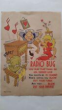 Rare Vintage Mid 20's to 30's Inspirational,Self Help poster. RADIO BUG