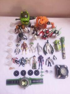 Huge Ben 10 Figures Job Lot Bundle Omnitrix Watch Action Figures Accessories