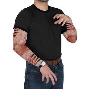 Adults Gory Arm Scar Halloween Fancy Dress Blood Zombie Flesh Gore Make Up Scare