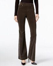 INC Green Olive Drab Women's Corduroys Flare Leg Pants Size 14 $79 NWT