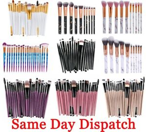20pcs Purple High Quality Make Up Brushes Blusher Face Powder Eyeshadow Brushes